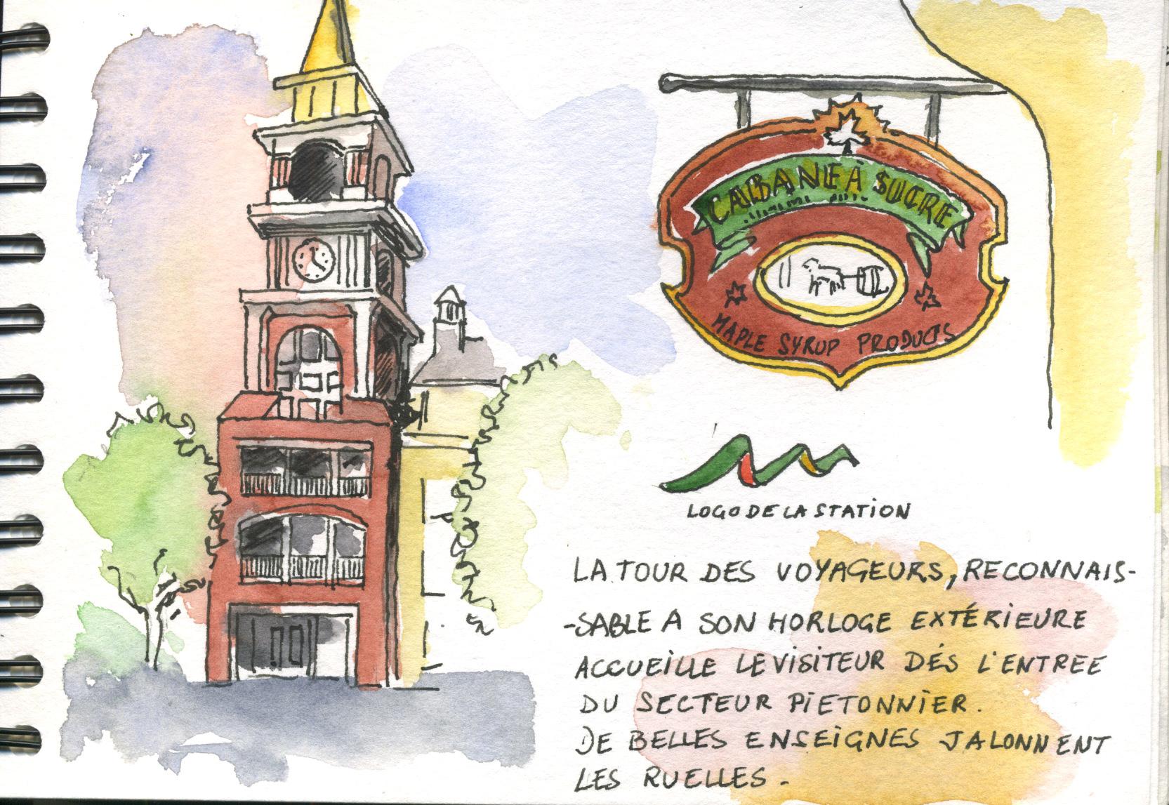 La tour à l'entrée de la station