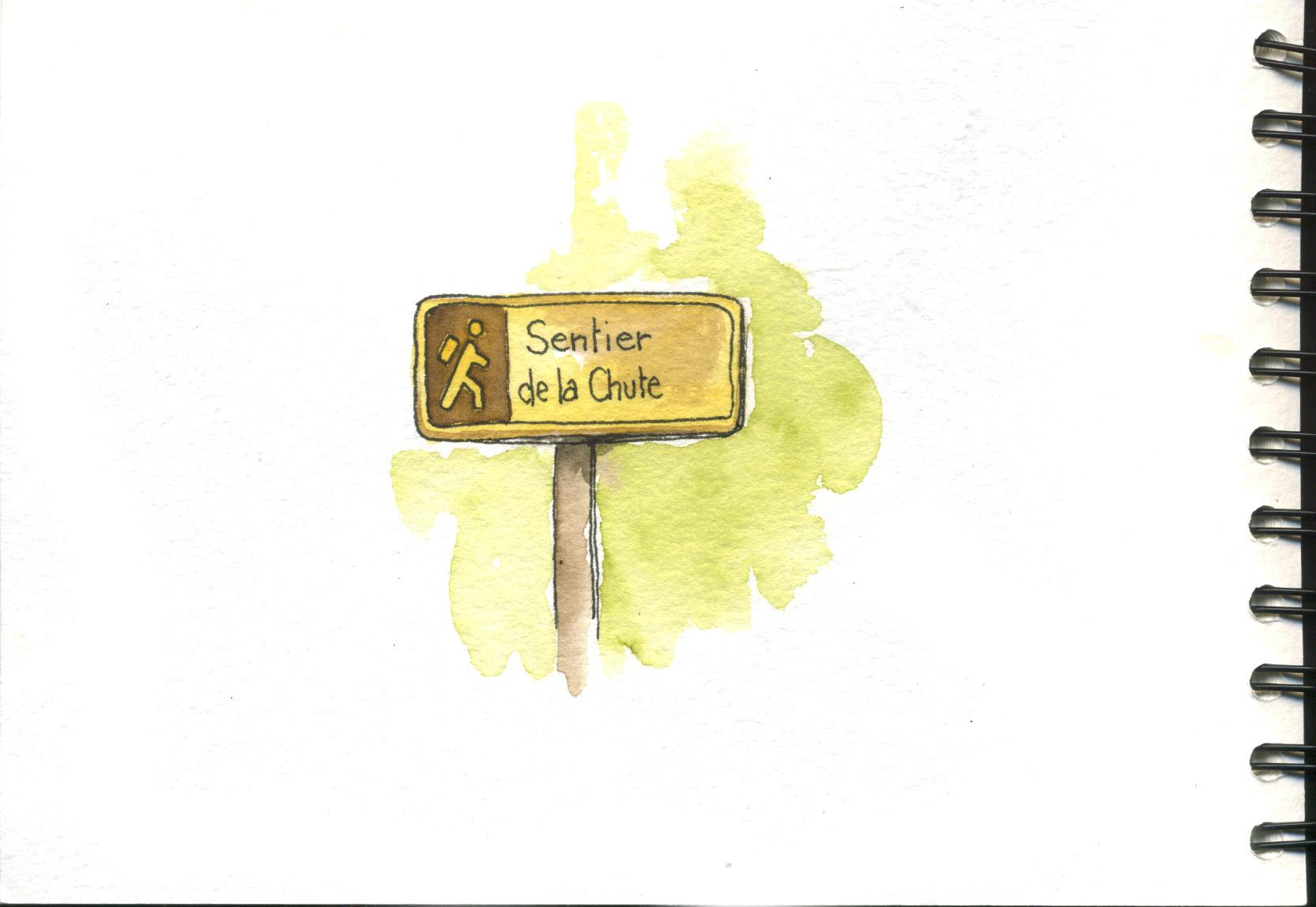 panneau indicateur dans le parc