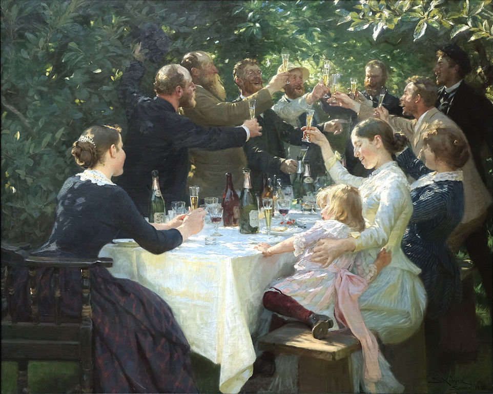Hip Hip Hurrah! de Peder Severin Krøyer - photo wikimedia