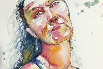 n°4 - croquis rapide pour un défi un portrait par jour