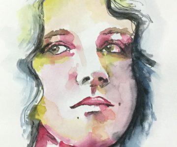 n°5 - croquis rapide pour un défi un portrait par jour