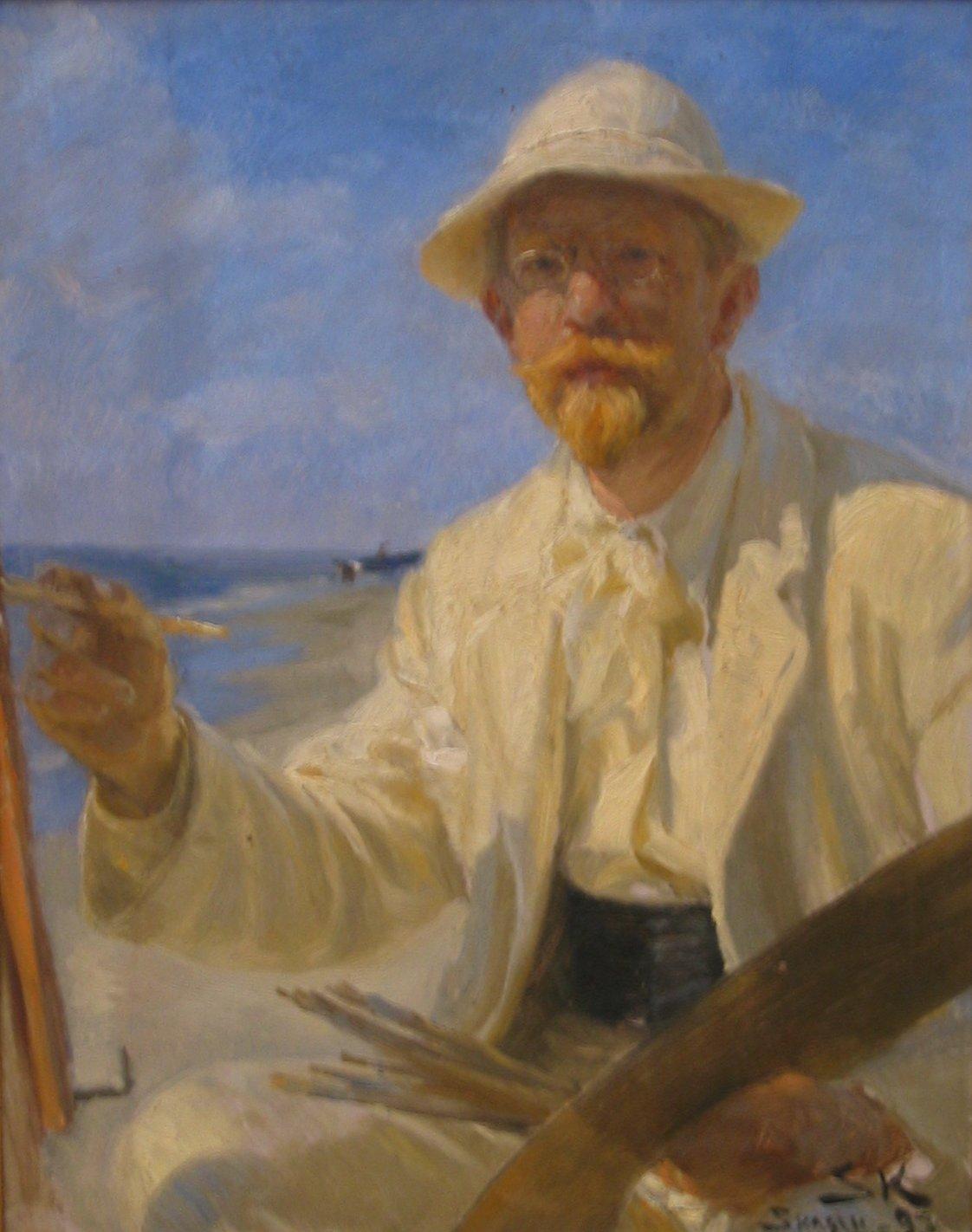 autoportrait de Peder Severin Krøyer - wikimedia