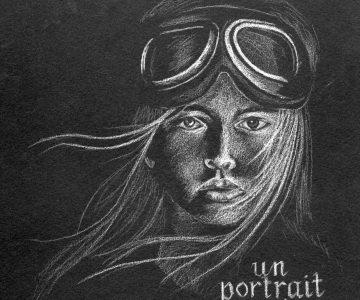portrait blanc sur noir
