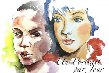 2 visages de femme à peau noire et blanche