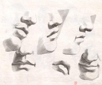 dessins académiques de bouche