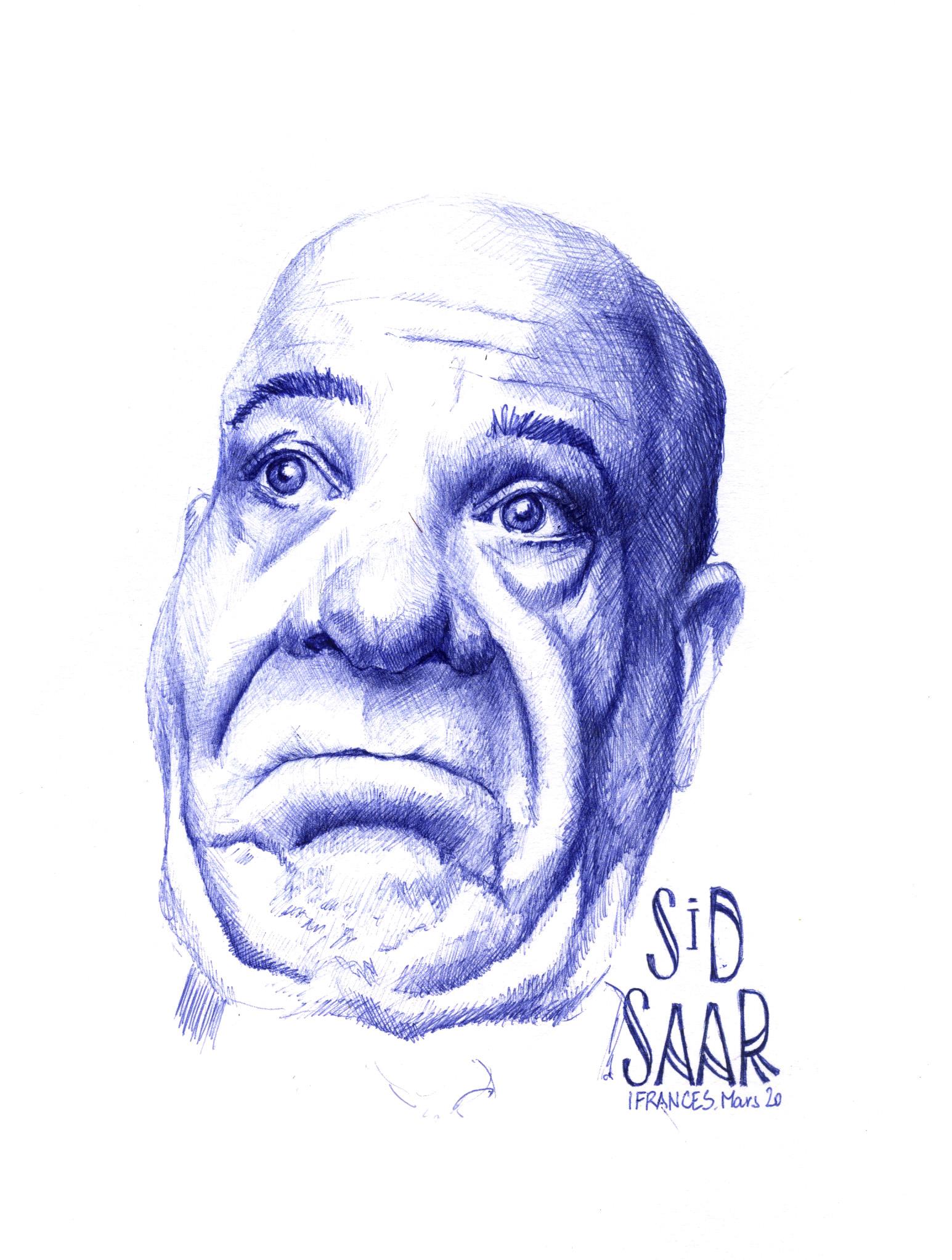 Portrait au stylo de Sid Saar  sur Sktchy -©I.Frances
