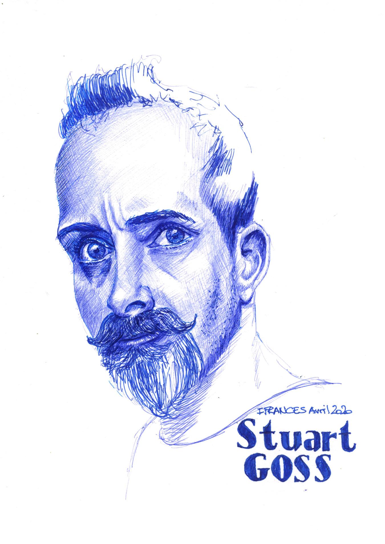 Portrait de Stuart - #TheDaily  de Sketchy -©I.Frances