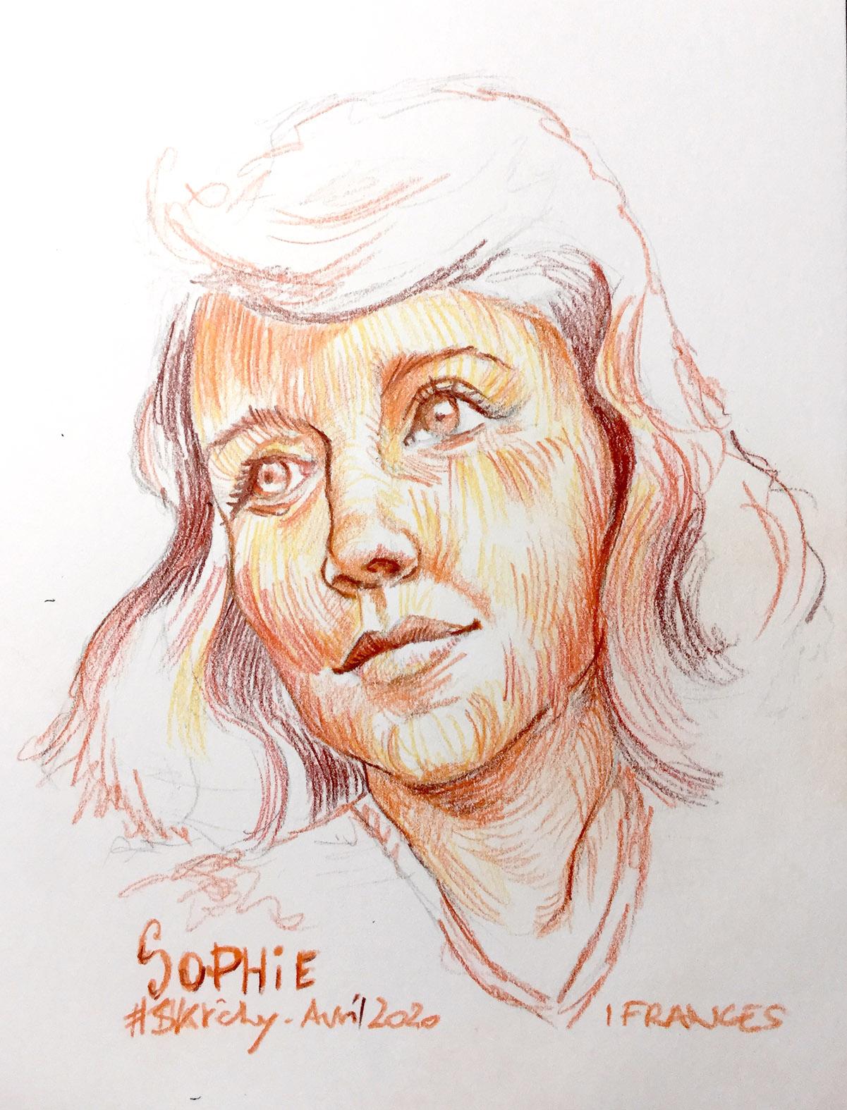 Sophie - modele ©Sktchy crayon de couleur