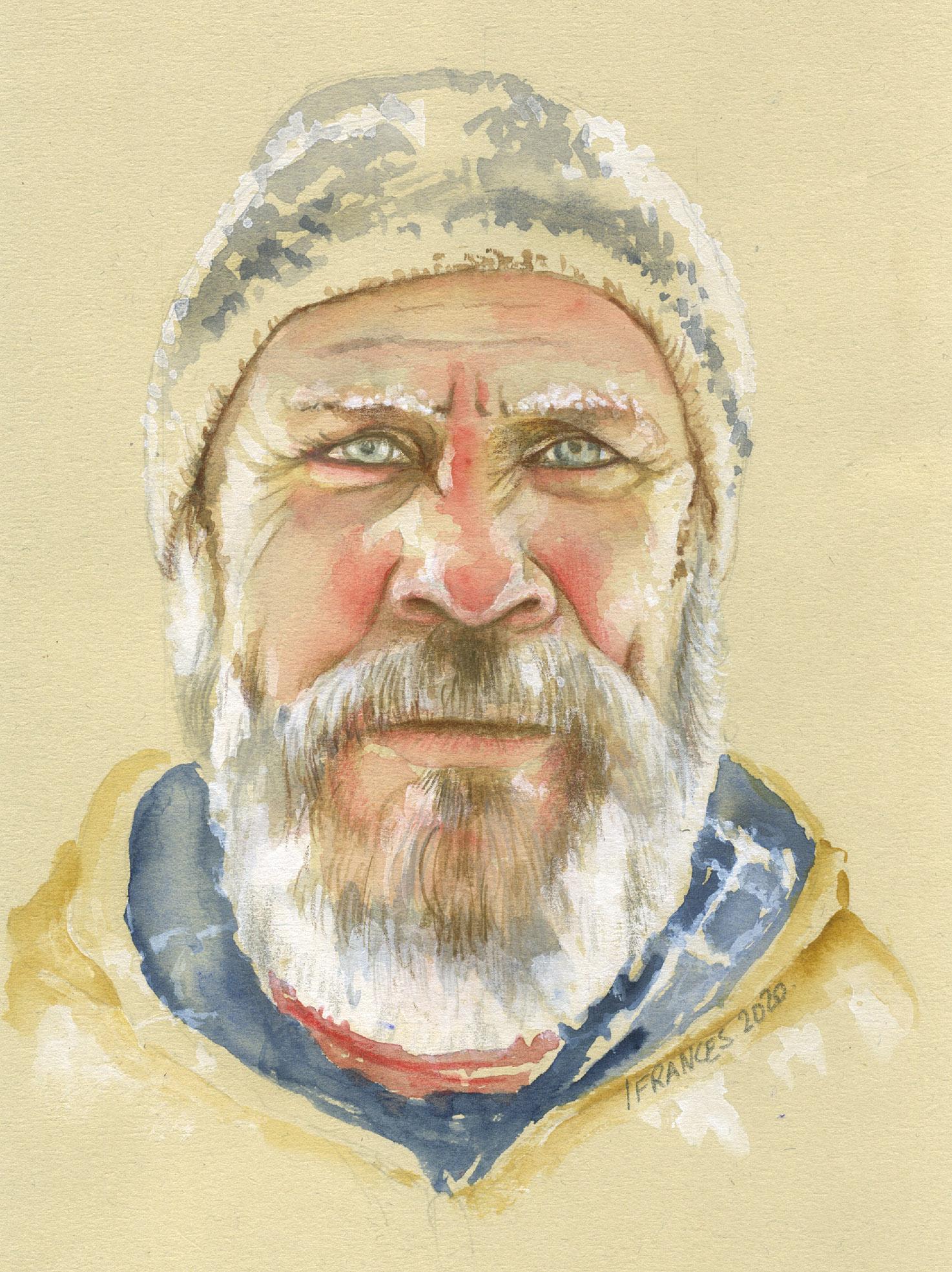 Portrait à l'aquarelle inspiration technique de Lynda Bell-Mann sur Sktchy