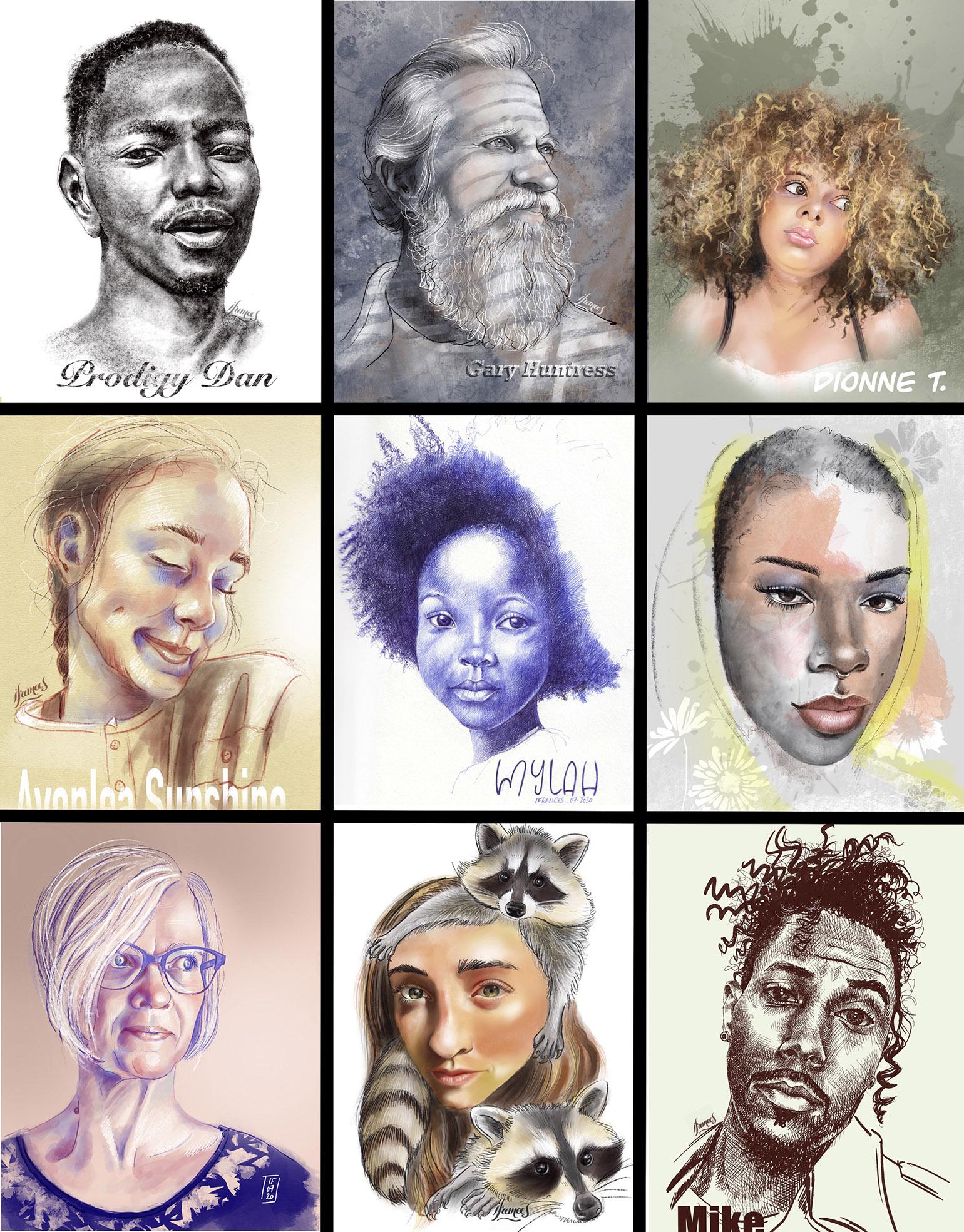 2emeRécapitulatif Challenge #30faces30days de Sktchy