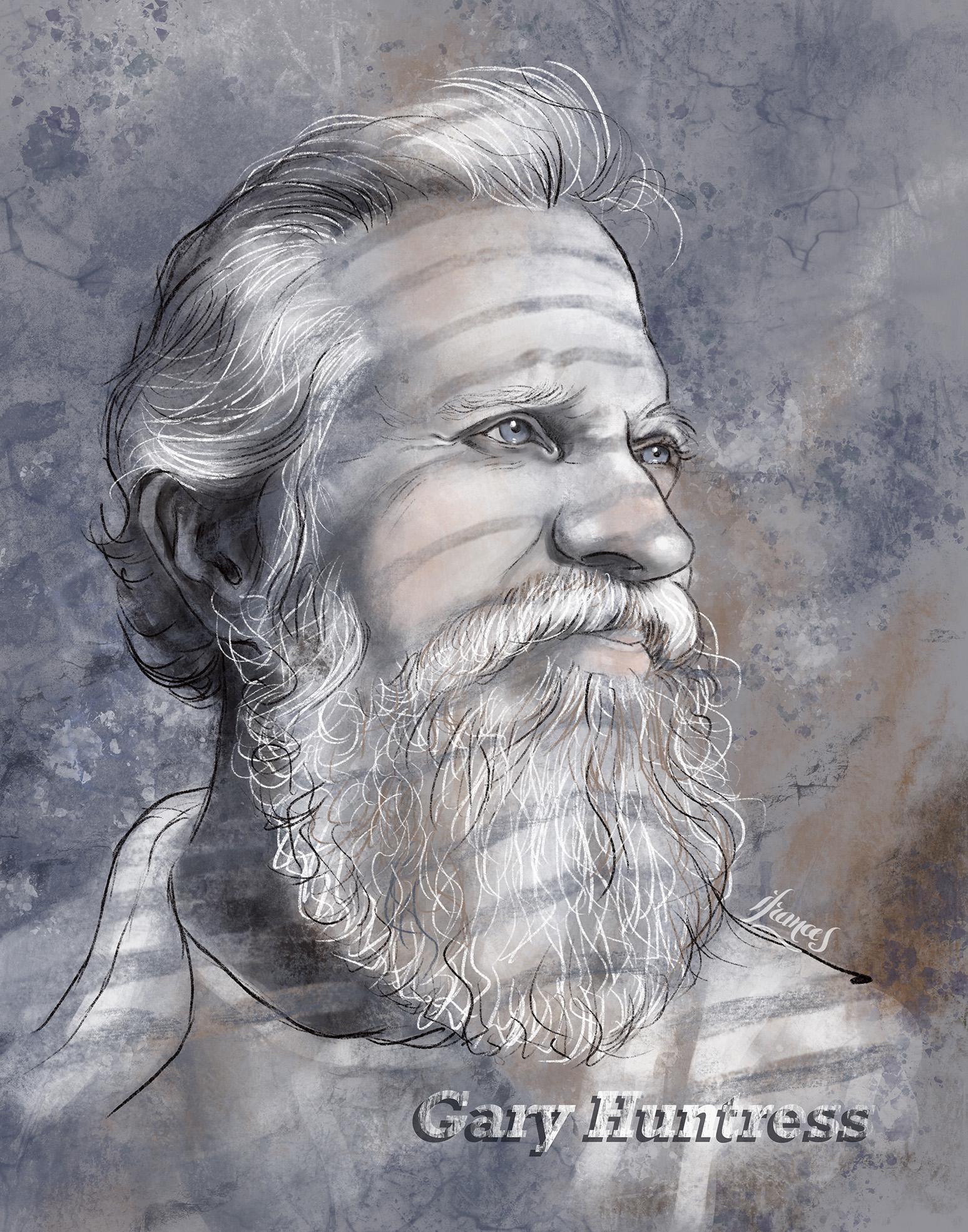 Portrait de Gary , illustration numérique sur Procreate. ©IF