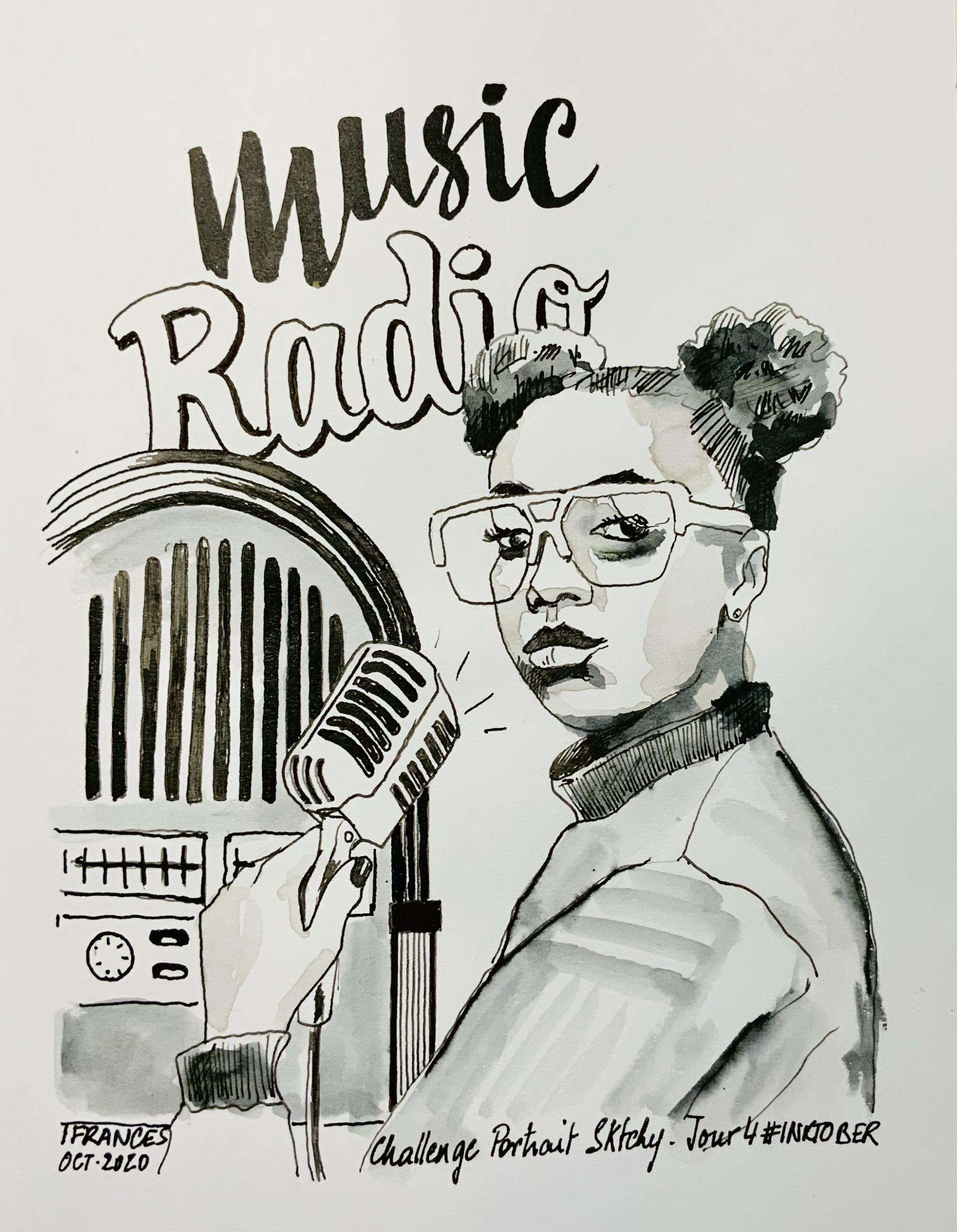 Portrait de Tajh avec Dylan Sara - mot clé du jour RADIO