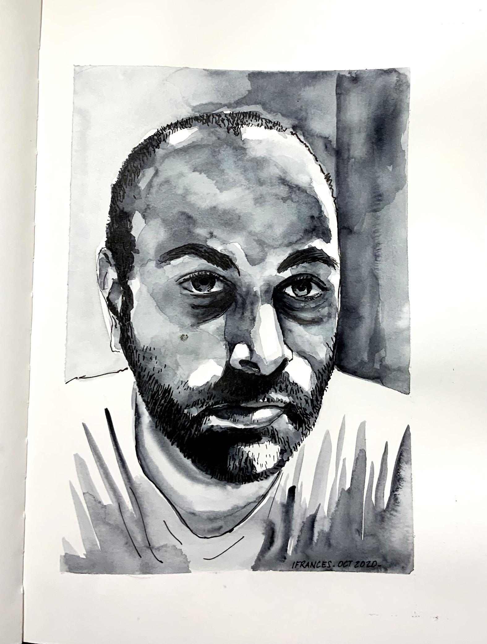 Portrait de Vin Ganapathy d'apres le tutoriel du jour
