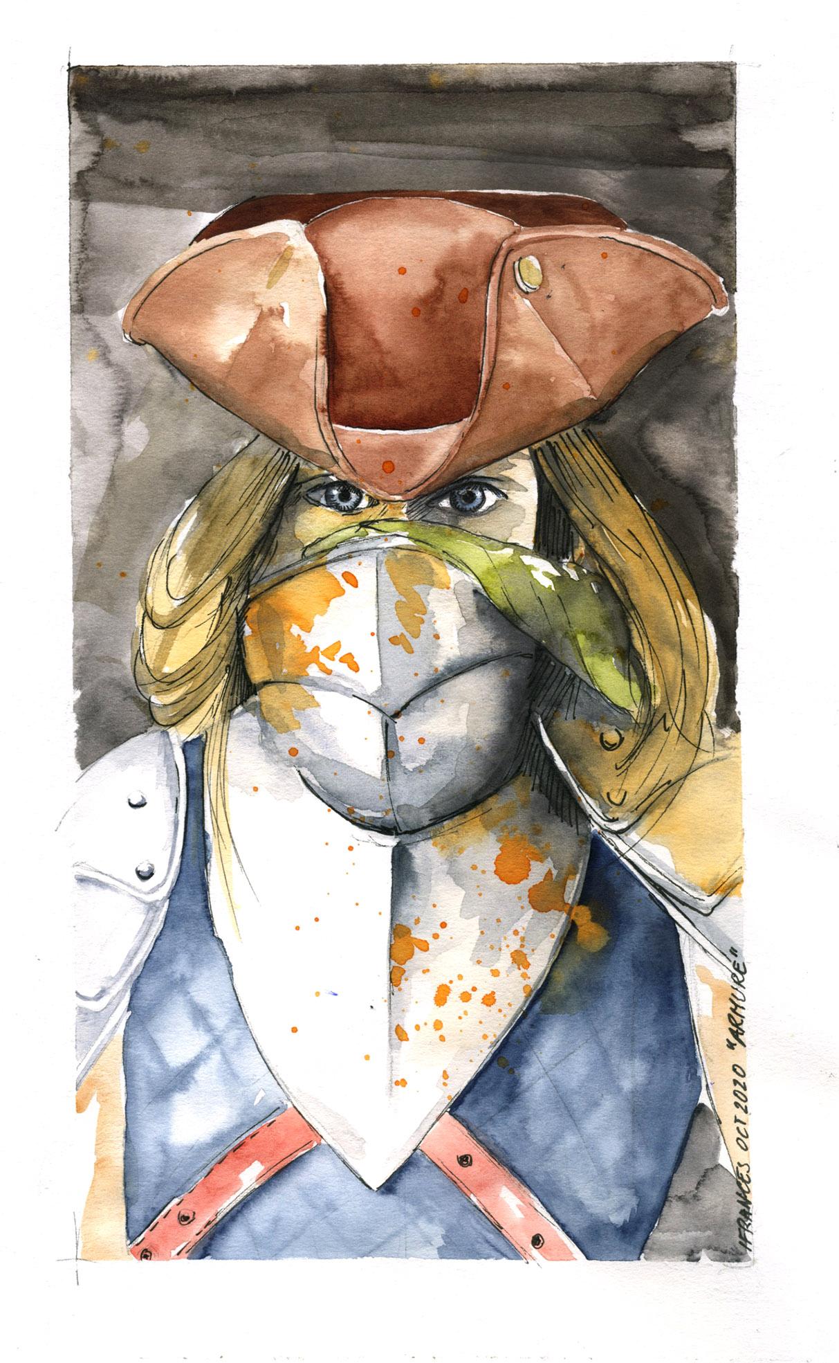 Femme en armure d'apres une photo de Trickery Art pour Sktchy