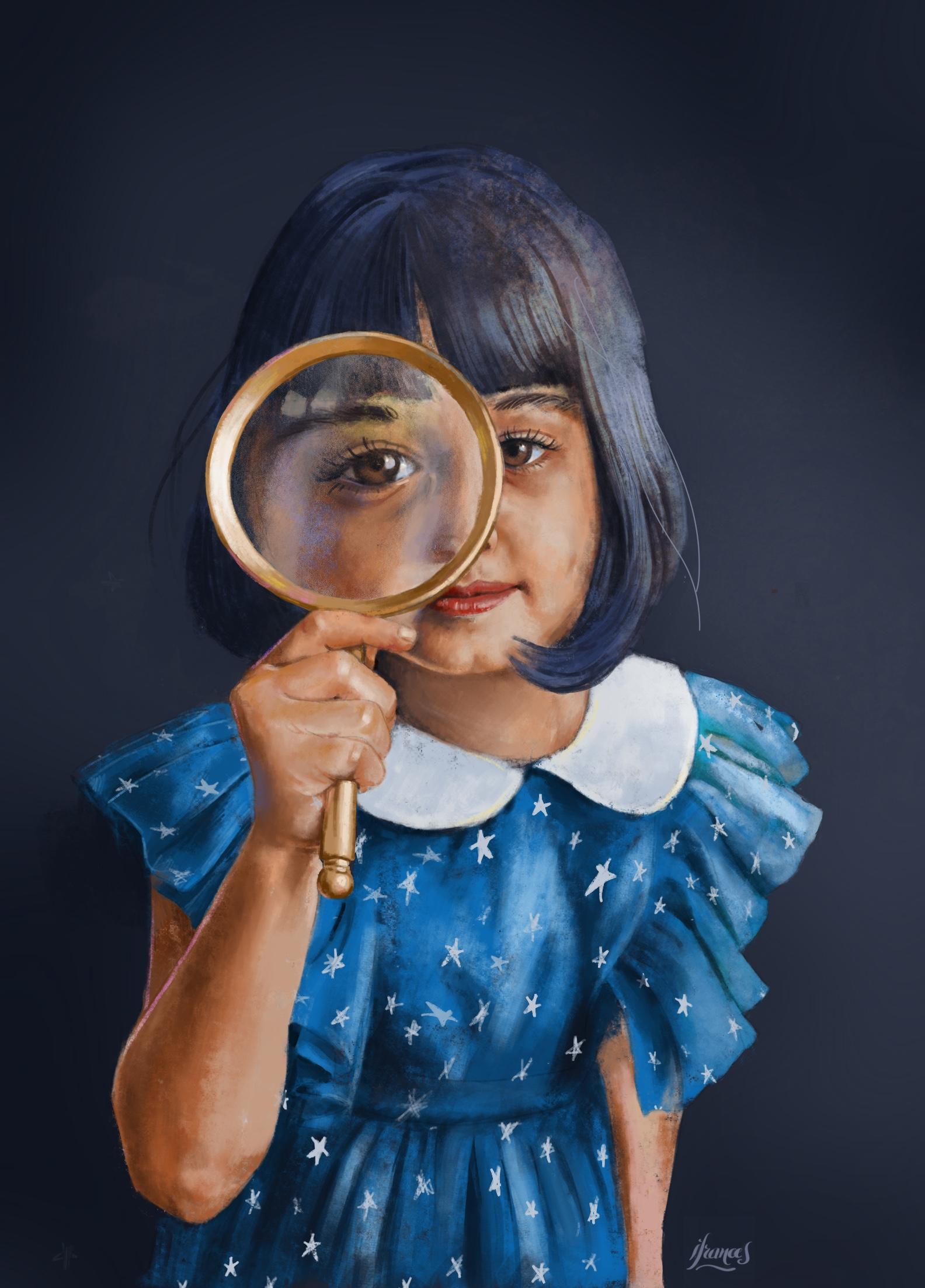 Peinture numérique avec Procreate- Modele Sktchy challenge #30days30faces mai 2021 -©I.Frances