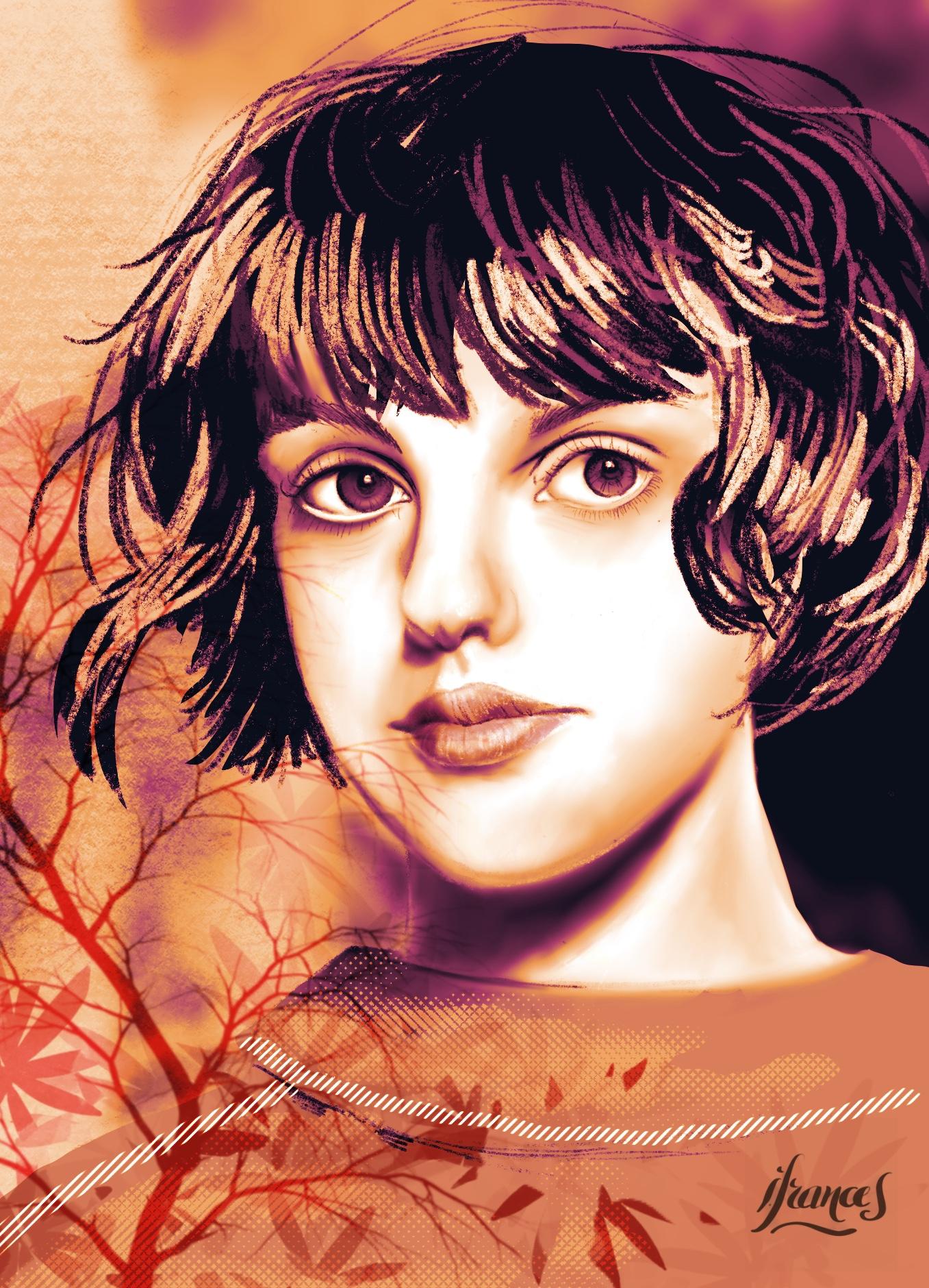 Portrait de Diana (modèle Sktchy) d'après un tutoriel de Joan Martin -©I.Frances2021
