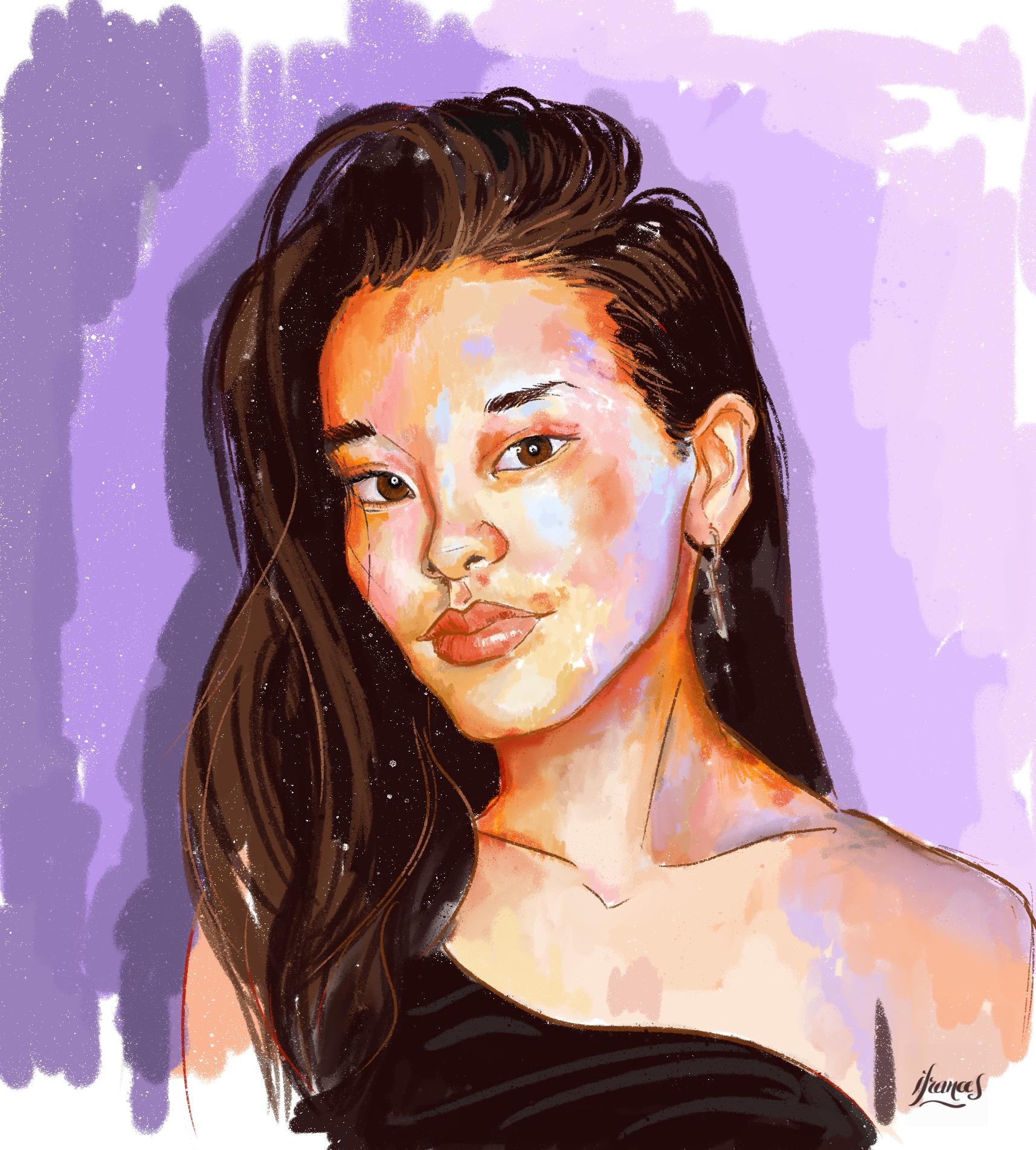 Anniek, Portrait ©Sktchy avec ©Procreate-©I.Frances2021