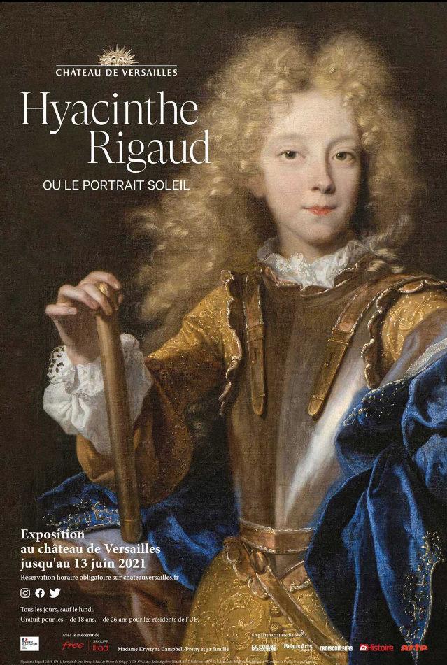 Affiche de l'exposition Hyacinthe Rigaud à Versailles