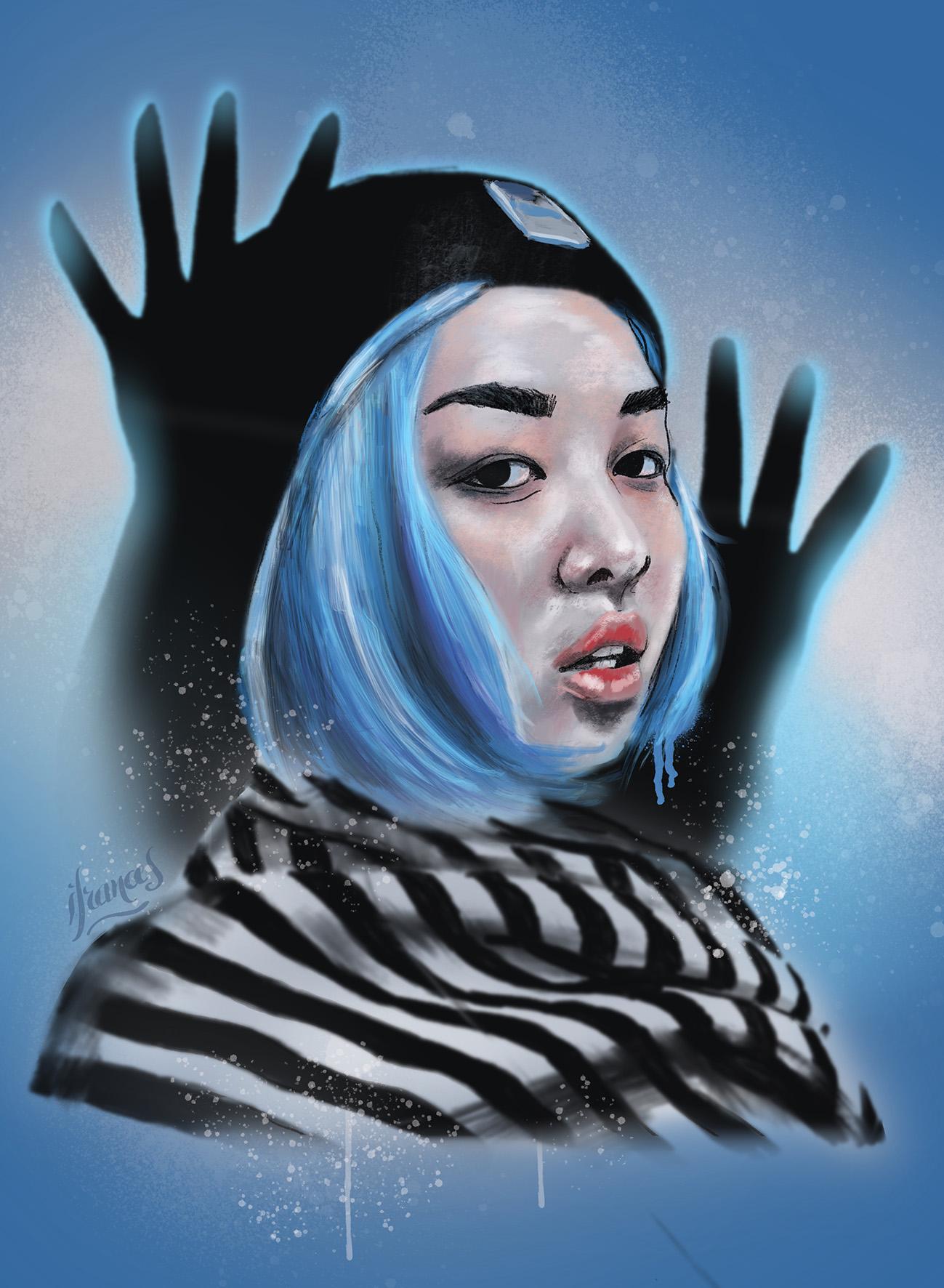 Madgie, modele Sktchy peinture numérique sur application Procreate - I.Frances2021