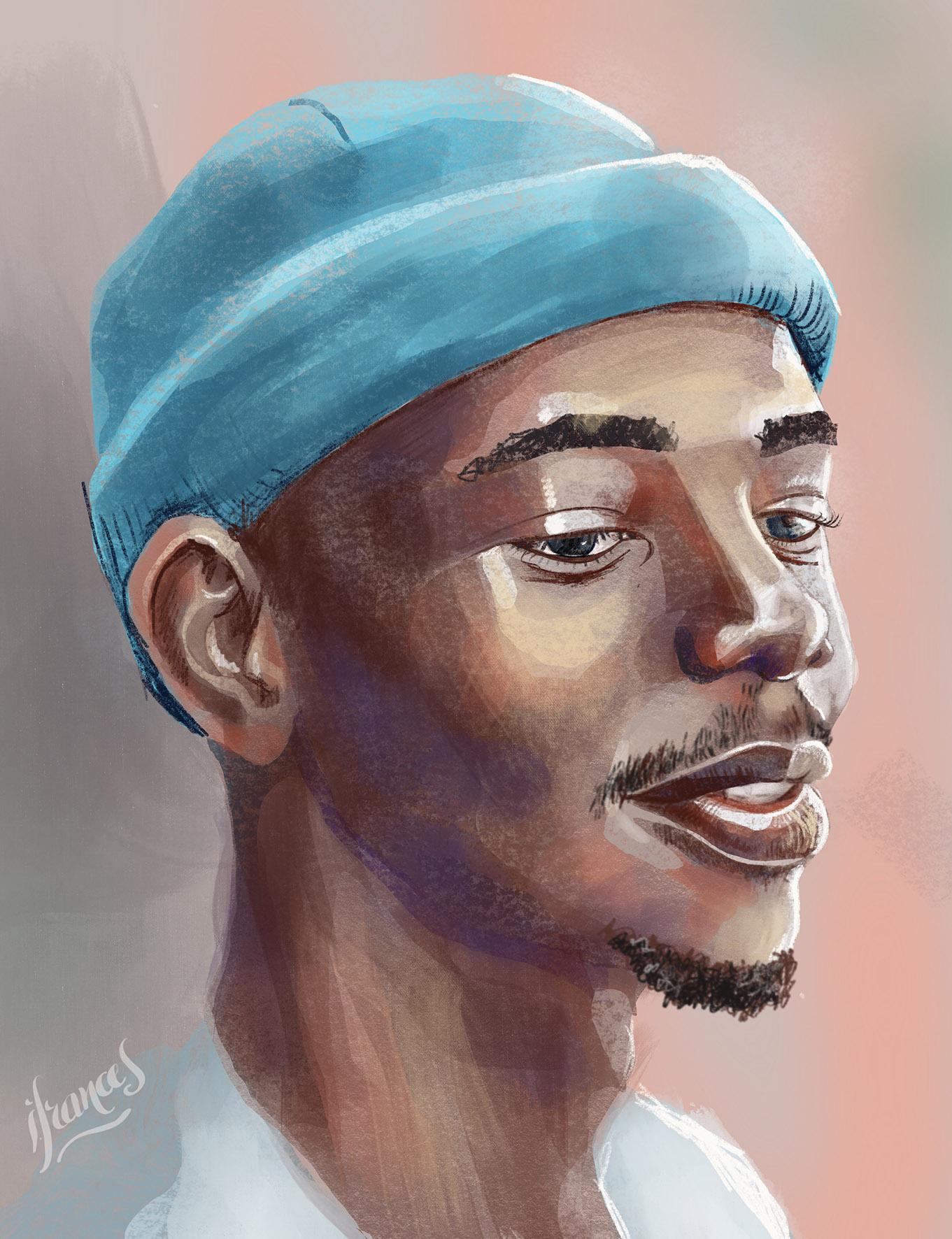 Prodigy Dan, peinture numérique sur Procreate-©I.Frances 2021