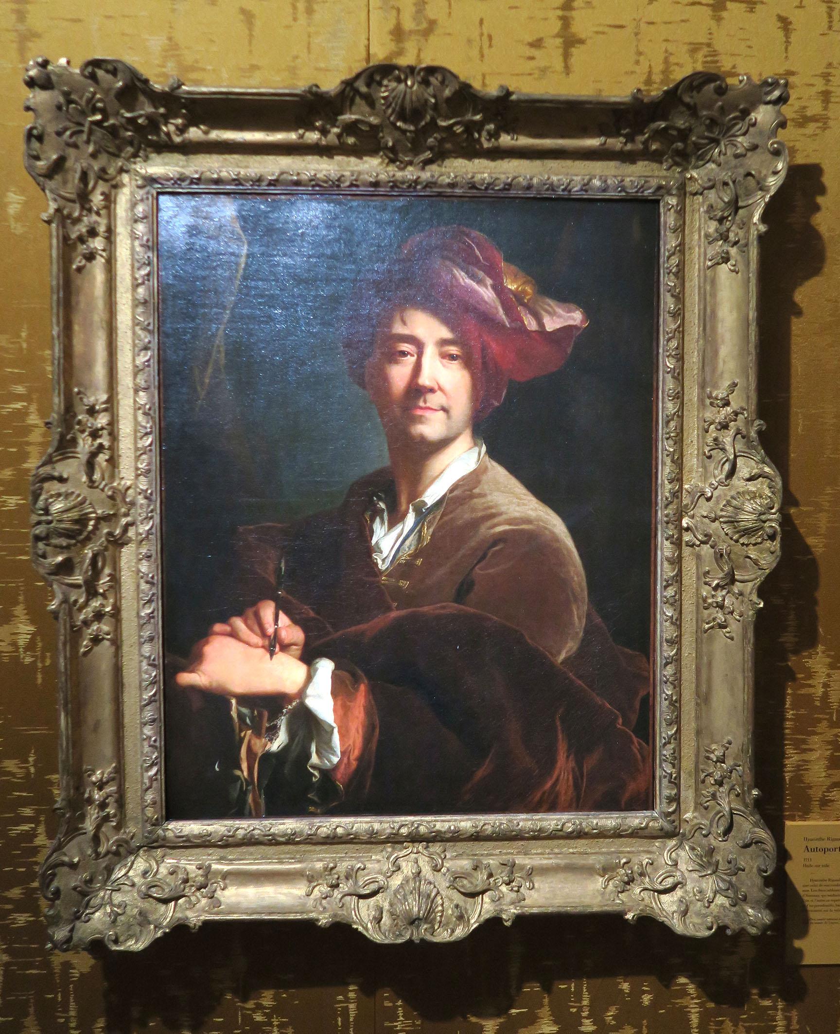 Autoportrait au porte-mine de Hyacinthe Rigaud 1711