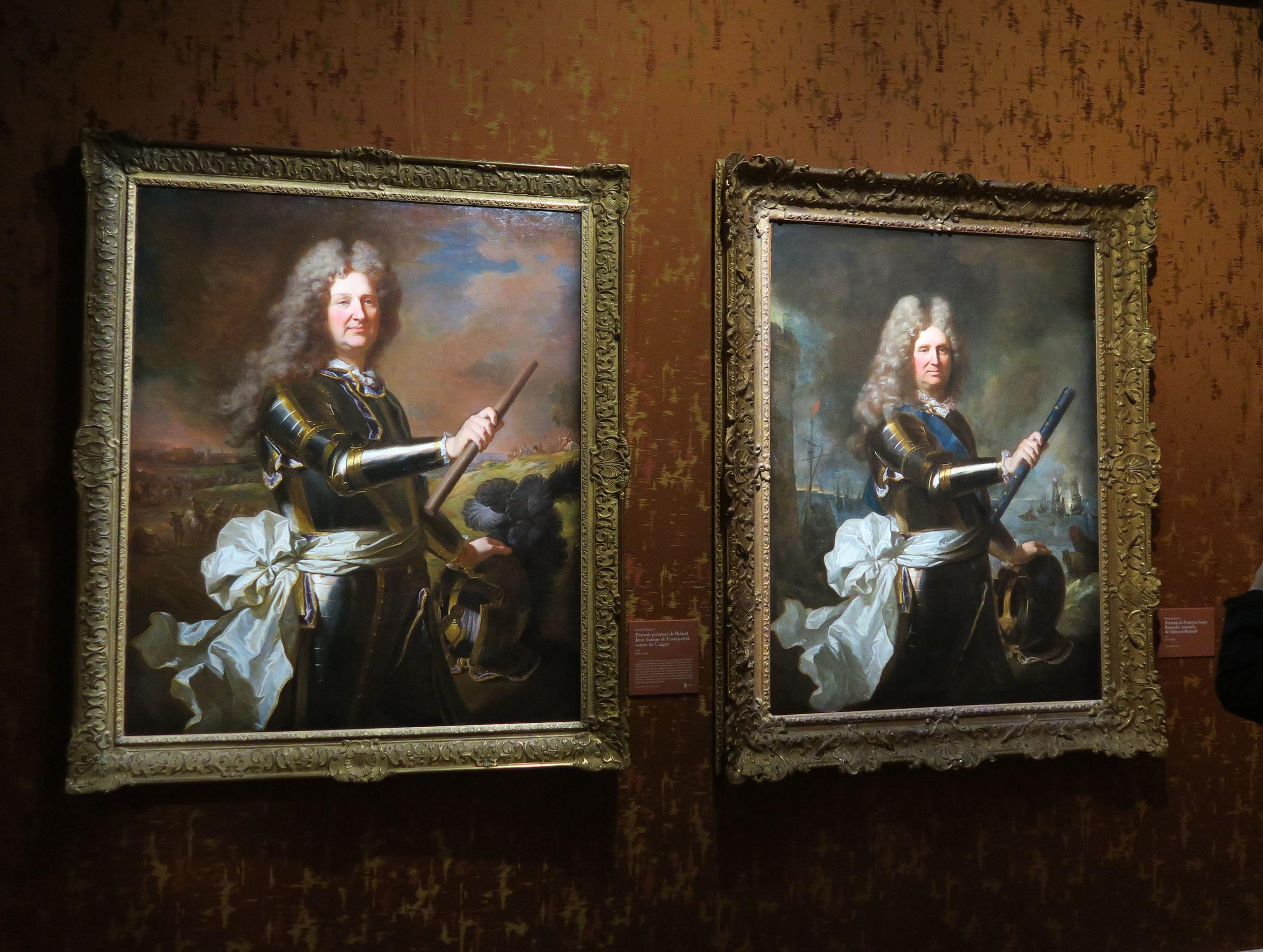 Peintures similaires du comte de Coigny et du marquis de Chateaurenard- Hyacinthe Rigaud