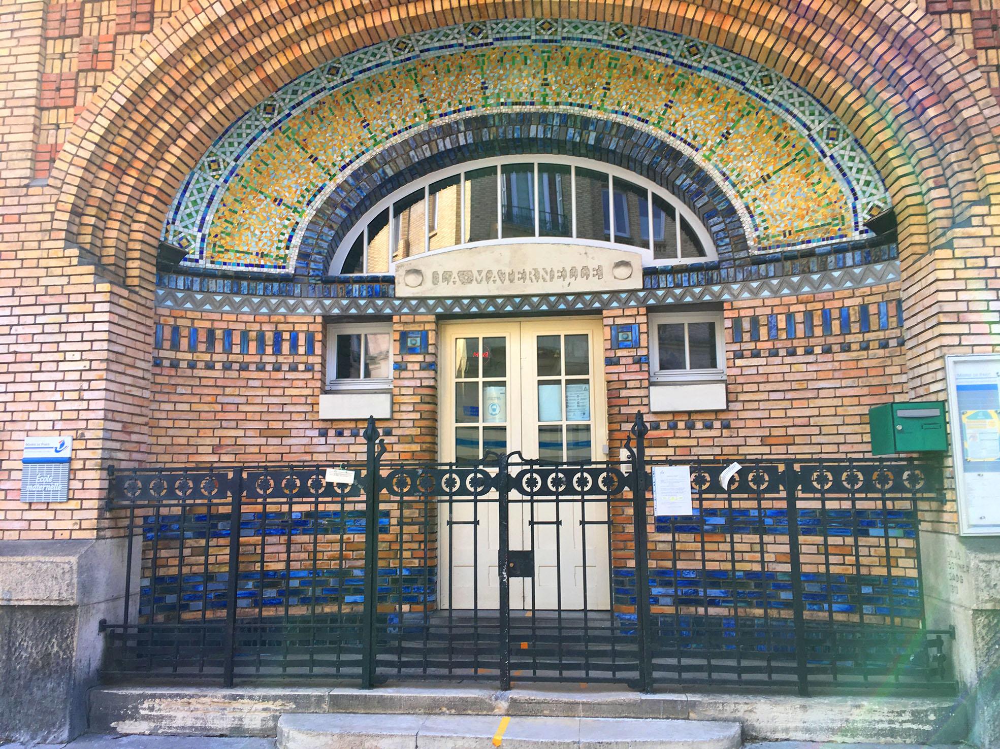 Porte d'entrée de l'école maternelle Rouelle Paris15