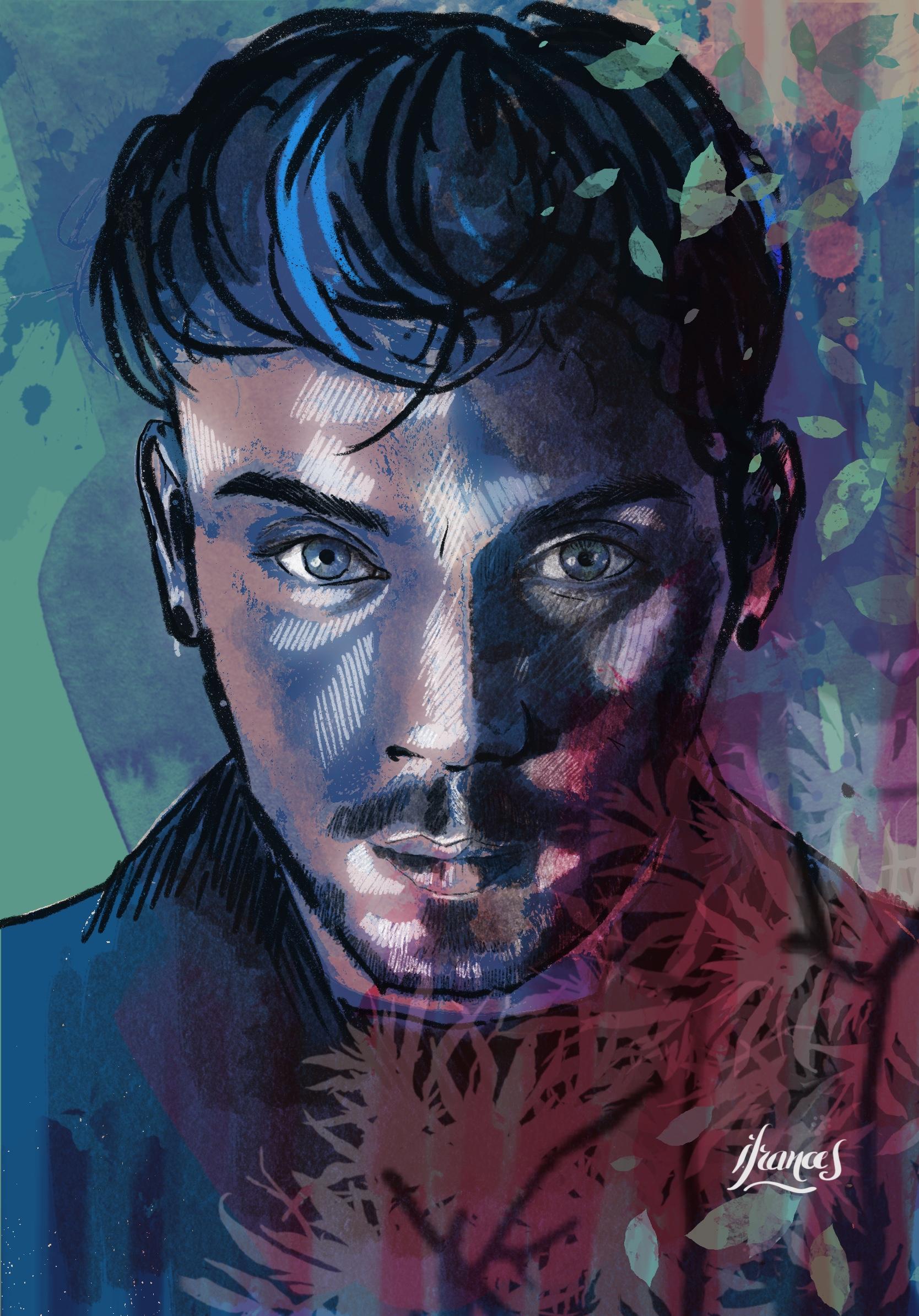 Samuel, peinture numérique sur Procreate-©I.Frances 2021