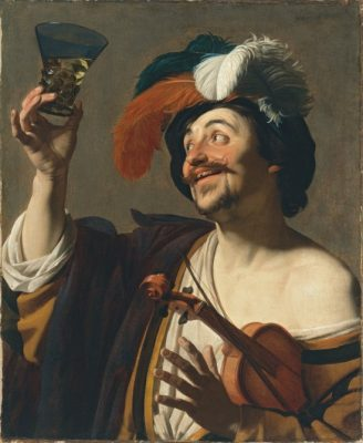 Le Joyeux Violoniste de Gerrit van Honthorst Huile sur toile 83 x 68 cm © Museo Nacional Thyssen-Bornemisza, Madrid
