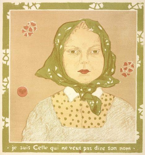 Je suis celle qui ne veut pas dire son nom, estampe de George Auriol