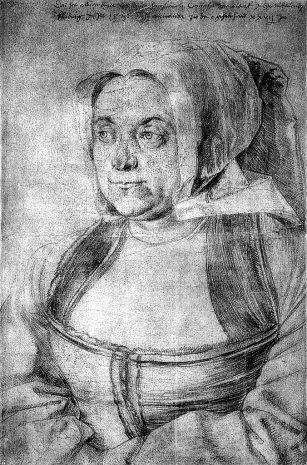 dessin d'Agnes Durer 1521