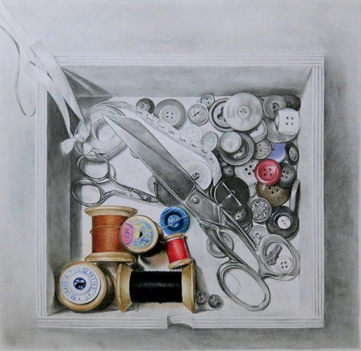 dessin d'une boite à couture