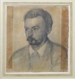Autoportrait de Vilhelm Hammershoi 1895 - Pierre noire  - Fondation Custodia