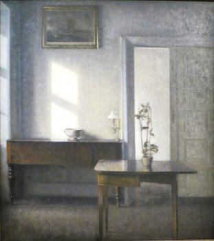 Intérieur avec un pot de fleurs, Bredgade 1910-11