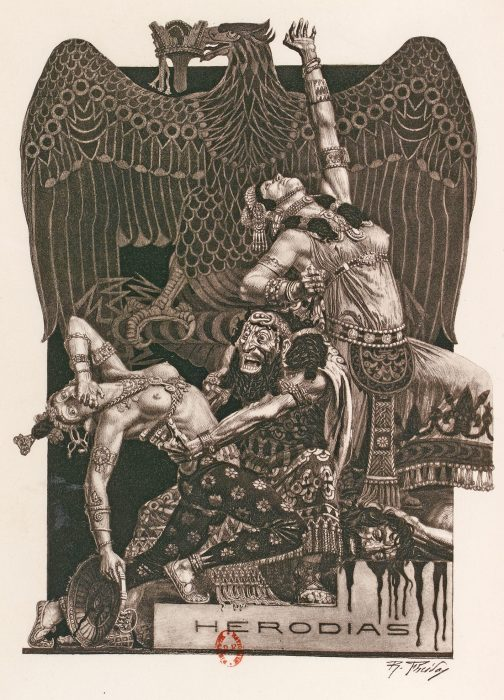 Illustrations de Raphaël Freida dans Hérodias de Gustave Flaubert 1926 - Gallica ark:/12148/bpt6k15241290