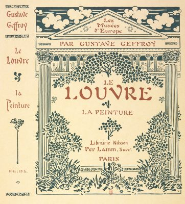 decor pour un livre sur le Louvre, plat et dos du livre