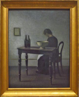 Intérieur avec femme assise 1910