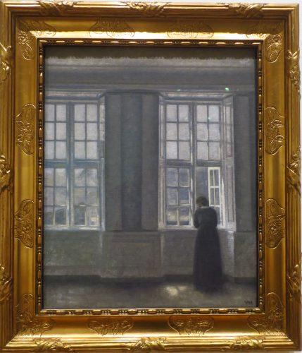 Les hautes fenêtres, intérieur de l'appartement de l'artiste 1913