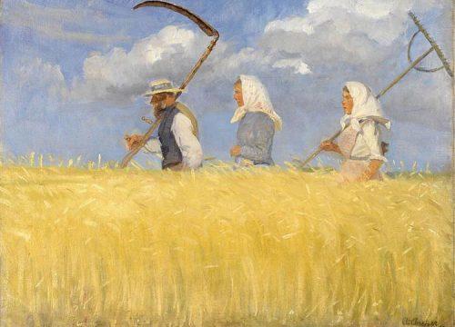 Harvesters de Anna Ancher - Skagens Museum