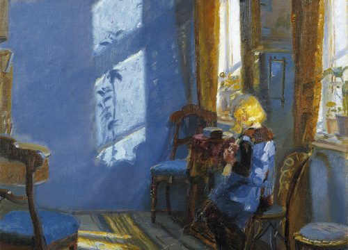 Sunlight in the blue room d'Anna Ancher - Musee de Skagen