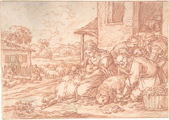 June (one of a series representing the labors of the months),1690 or slightly earlier Jonas Umbach German http://www.metmuseum.org/art/collection/search/334986